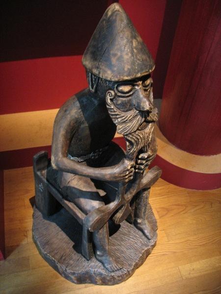 Reproducción de una estatua de Thor del siglo X encontrada en Islandia