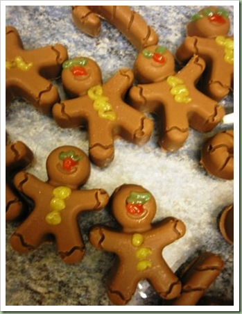 chocolate iced gingerbread men