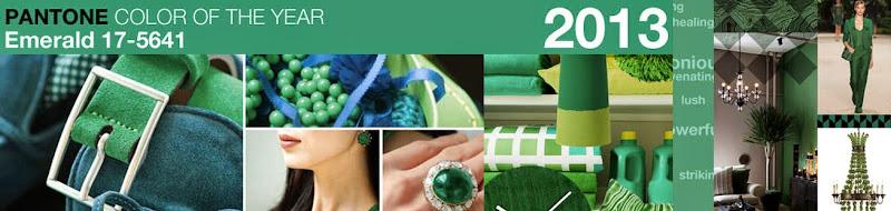 Imagen Pantone: Color of the year EMERALD