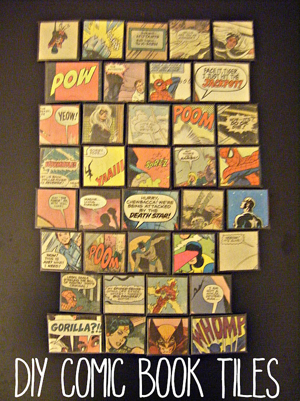 Comic Book Tiles | allonsykimberly.com