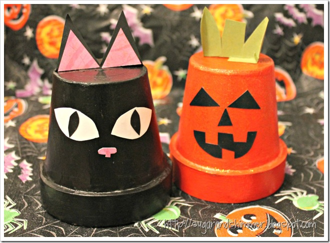 Painted Halloween Pots
