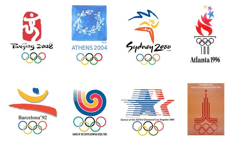 Loghi olimpiadi 1980 2008