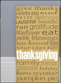 thanksgivinf board