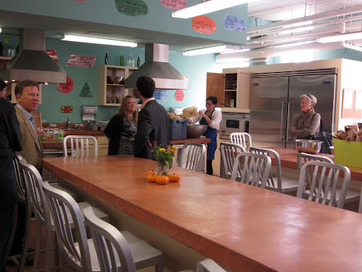 A brand new teaching kitchen is a place for students to learn about nutrition and master kitchen skills.