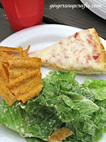 tombstone pizza and salad