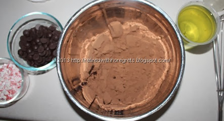Gluten-free Chocolate Peppermint Crazy Cake - ingredients