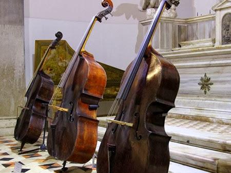 Instrumentos do Museu da Música, em Veneza