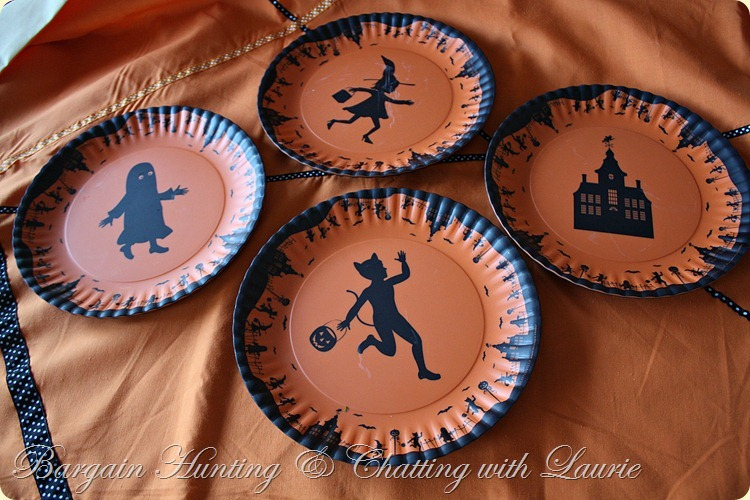 Halloween silhouette plates