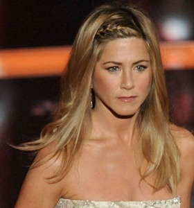 Jennifer Aniston con trenza