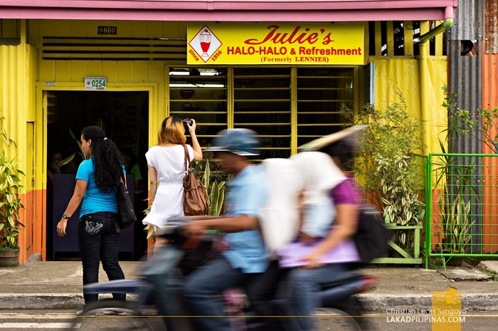 Julie's Halo-Halo's Yellow and Orange Facade