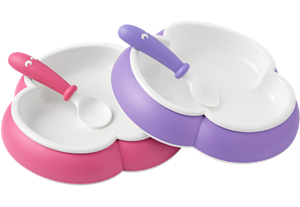 plate and spoon pink