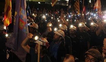 la marcha de los mineros