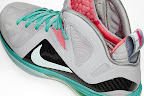 nike lebron 9 ps elite grey candy pink 9 04 official LeBron 9 P.S. Elite Miami Vice Official Images & Release Date