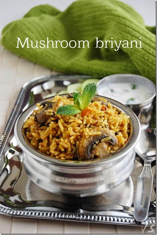 Mushroom briyani