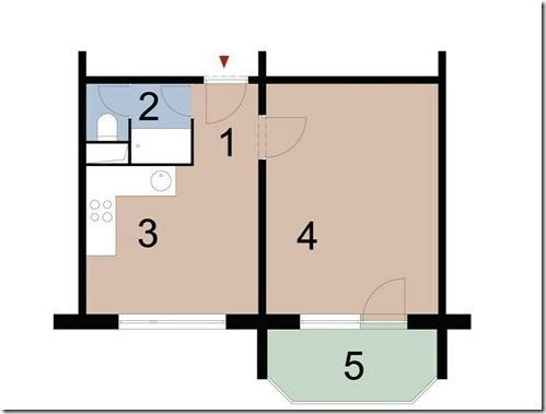 дизайн проект однокомнатной квартиры 6