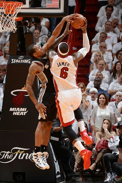 lebron james nba 140612 mia vs sas 07 game 4 Spurs Win Two Straight in Miami. Lead the Series 3 1.