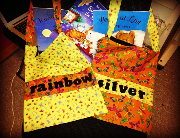 Applique Name Library Bag by Sue M