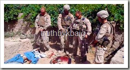 US Soldiers urinating over the dead bodies of Afghans
