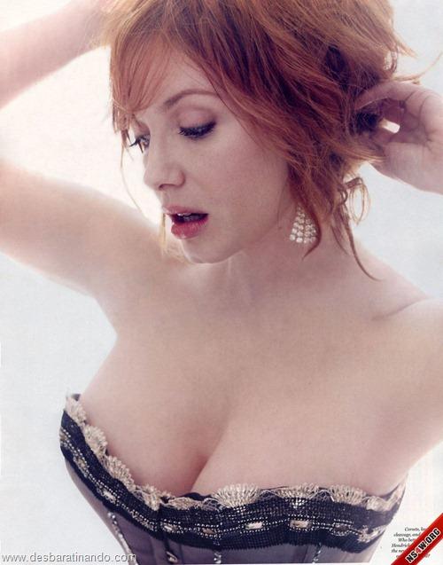 Christina Hendricks linda sensual sexy sedutora decote peito desbaratinando (76)