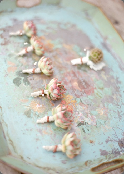 succulent-boutineers flowers by kelly oshiro for SF Chic and Delesie photo