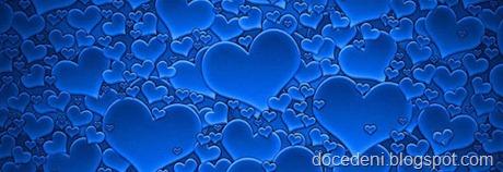 corações azuis