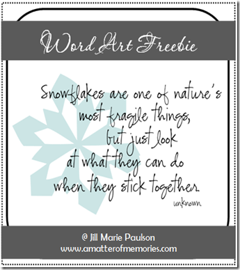 Snowflake Quote Word Art