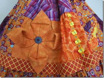 skirt embellished with fabric flowers (2)