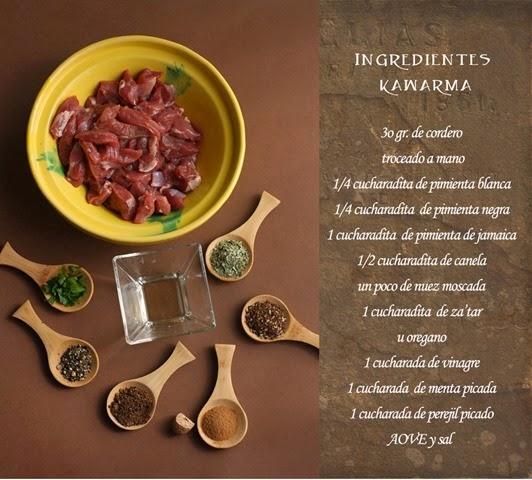 kawarma-de-cordero-ingredientes