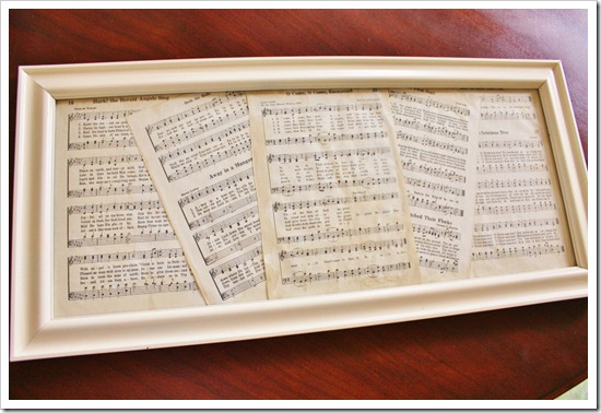 Place Sheet Music in Frame