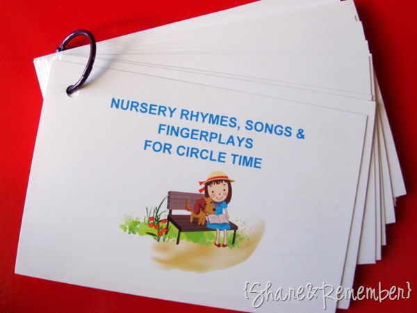 Nursery Rhymes, Fingerplays & Songs|Printables