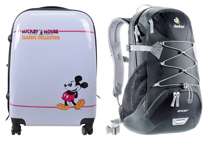 Disney Vintage Mickey Luggage | Deuter Spider Backpack