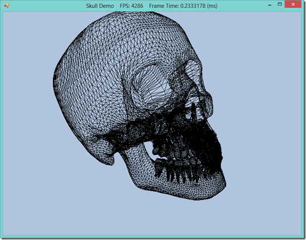 Loading a Mesh From a File: Skull Demo