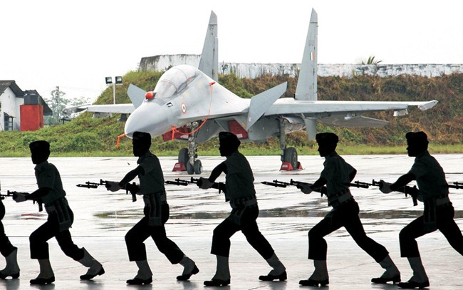 Indian Air Force [IAF] Sukhoi Su-30 MKI fighters at Tezpur, Assam [North-East]