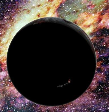 ilustração de um exoplaneta vagando no espaço