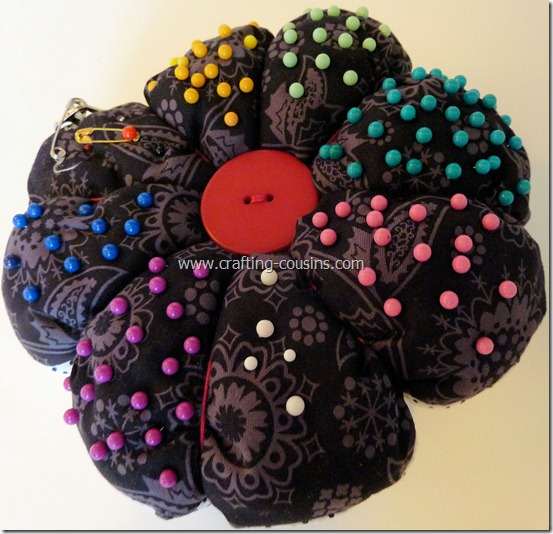 Sew your own flower pincushion tutorial from the Crafty Cousins (40)