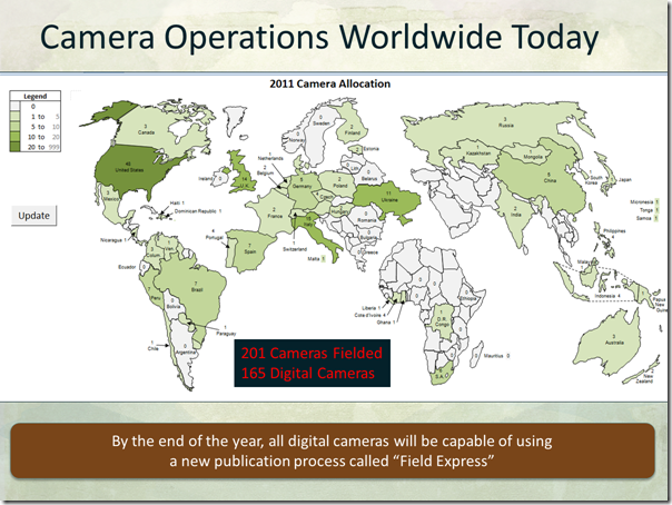 FamilySearch Worldwide Camera Operations Map 2011