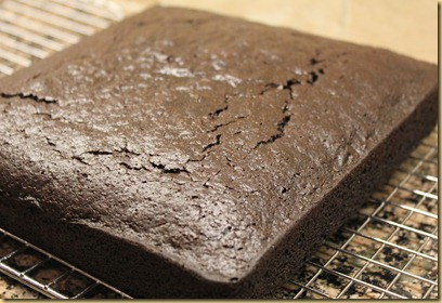 Simple chocolate cake made with mayonaise