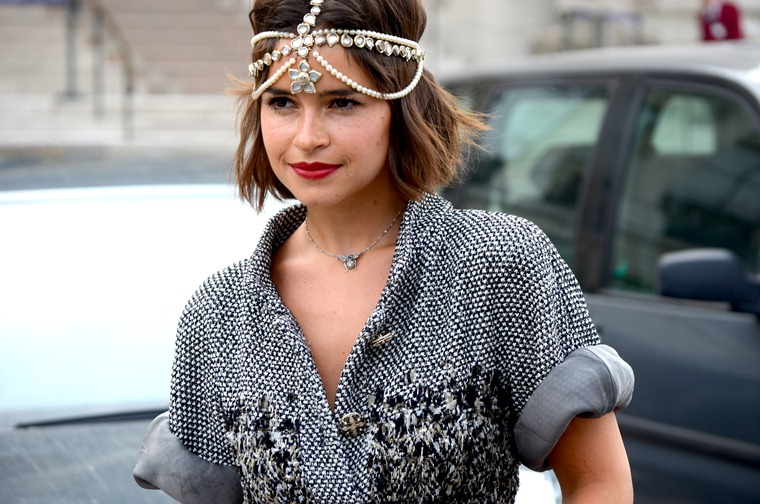 NobodyKnowsMarc.com Gianluca Senese Miroslava Duma Paris Fashion Week street style Chanel fashion show