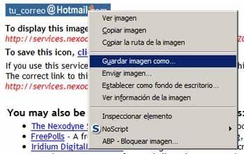 Crear imagen con tu correo personal