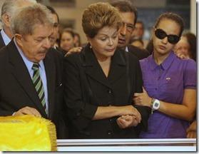 Dilma no velório de Chávez