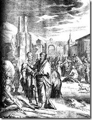 Paulo e Barnabe pregando aos pagaos