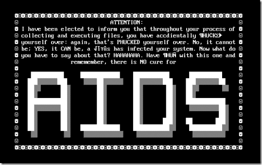 AIDS Computer Virus