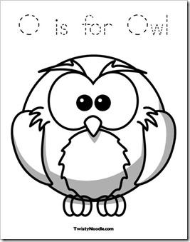 Preschool Alphabet: Owl