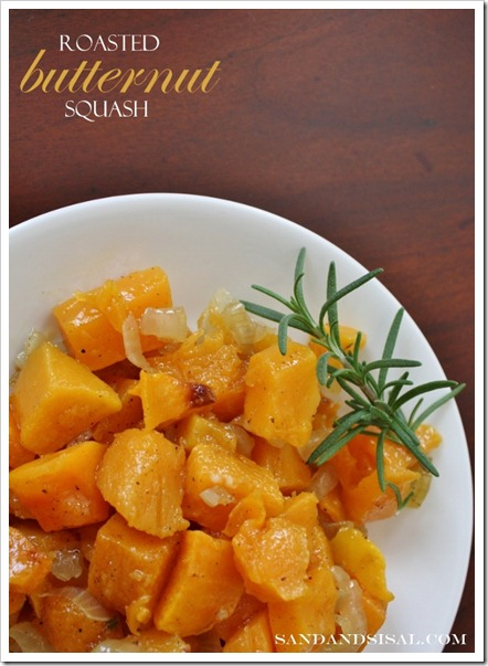 Roasted Butternut Squash by Sand &#038; Sisal