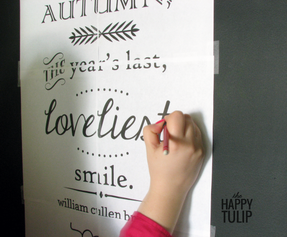 Beautiful chalkboard art without needing fancy handwriting skills