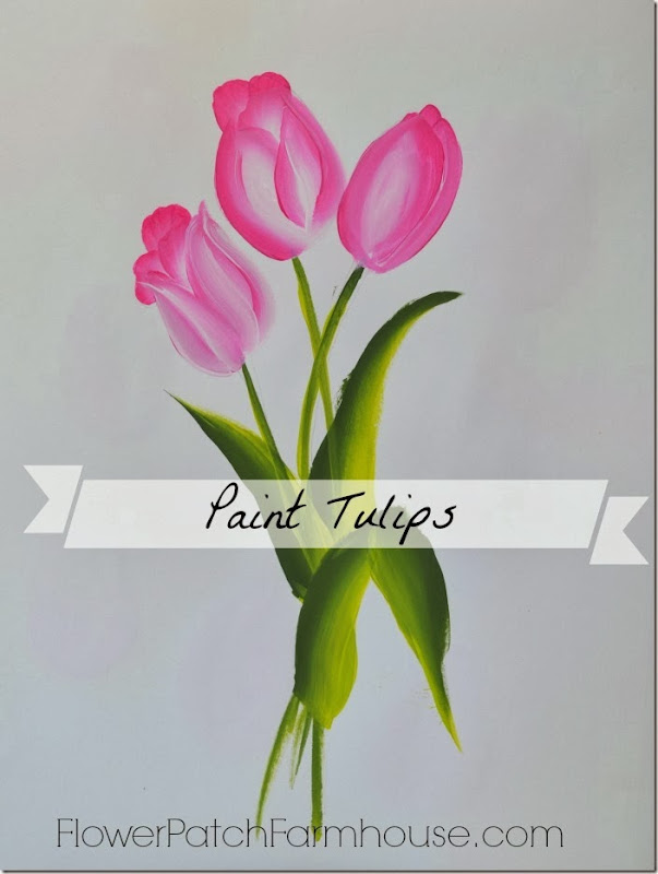 tulip painting banner