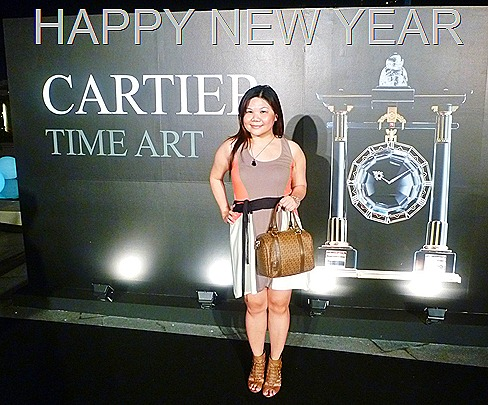 FENDI FOREVER ZUCCHINO BOSTON DUFFLE Satchel Hazelnut Style Cartier Time Art Marina Bay Sands Art Science Museum Gala Night Media Preview BeauteRunway