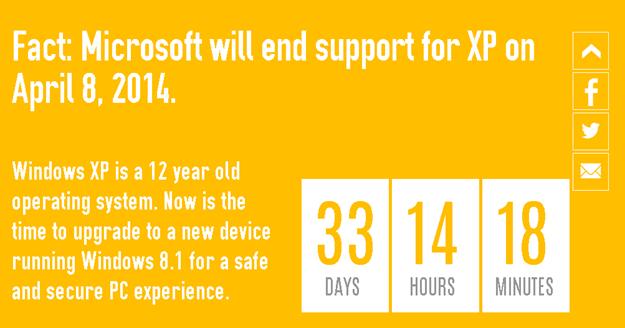 microsoft inchide suportul pentru Windows XP