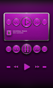 Poweramp Widget Pink Leather - screenshot