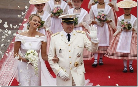 Prince Albert II weds Charlene Wittstock
